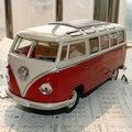 A Estrenar 1/24 Escala Diecast Car Model Juguetes 1962 SAMBA Bus Metal Clásico Modelo de Coche de Juguete Para El Regalo/Colección/niños