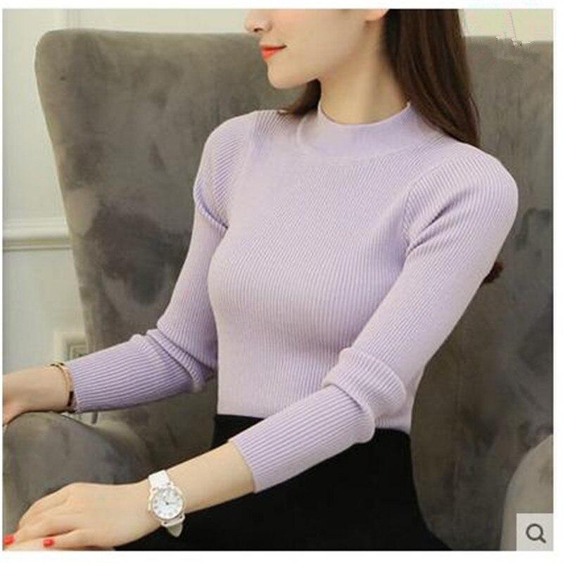 Hot 2017 de otoño e invierno nueva Corea semi-cuello alto suéter que basa la cam