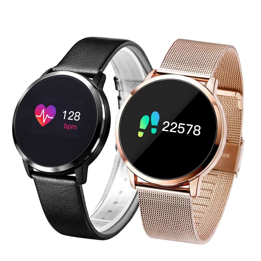 Newwear Q8 Q9 Smart Uhr Mode Elektronik Männer Frauen Wasserdichte Sport Tracker Fitness Armband Smartwatch Tragbare Gerät