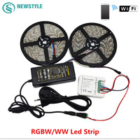 5M 10M RGBW WW Led Strip 5050 DC12V Led Light IP20 IP65 Waterproof WIFI Controller Power