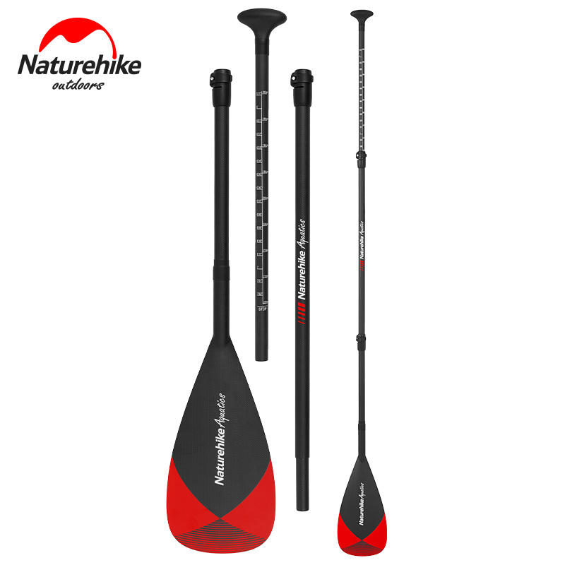 Naturehike 3-Piece Adjustable Carbon Fibre SUP Paddle Inflatable Surf Board Stand Up Aluminum Alloy Paddle Water Surfing Sports water sport inflatable sup board surf stand up paddle boards