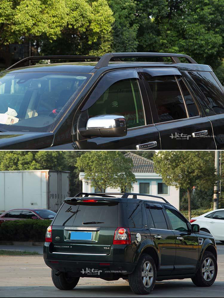 For LR2 Freelander 2 2006-2014 Roof Rails Rack End Cover Shell 4pcs Car Stytle Accessories