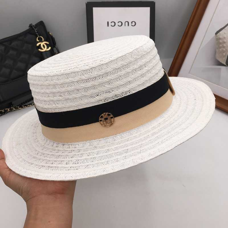 f918a96ec0794 Summer new fashion shade sunscreen M standard in Europe and the flat wide  brim hat hat