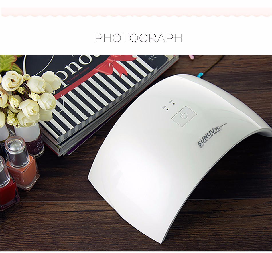 SUNUV SUN9c Plus 36W UV LED Nail lamp 18 LEDs Nail dryer for All Gels with 30s/60s button Perfect Thumb Solution 10