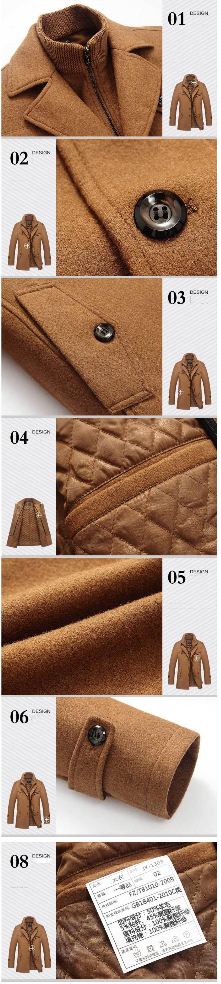 HTB11fbtcyqAXuNjy1Xdq6yYcVXas New Winter Wool Coat Slim Fit Jackets Mens Casual Warm Outerwear Jacket and coat Men Pea Coat Size M-4XL DROP SHIPPING