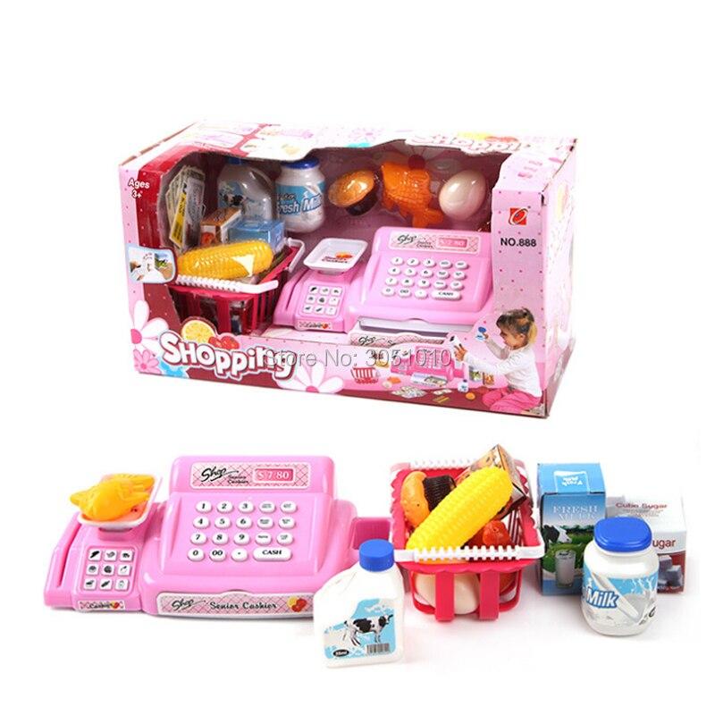 1 Set Supermarket Kid Toy Cash