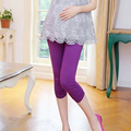 Maternidade roupas de maternidade calças Hold Up abdômen macio maternidade Leggings Modal de algodão roupas para mulheres grávidas doces colorem