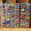 6 Sheets Various Cars 3D Cartoon Stickers Best Christmas Gift Stickers for Baby Boys