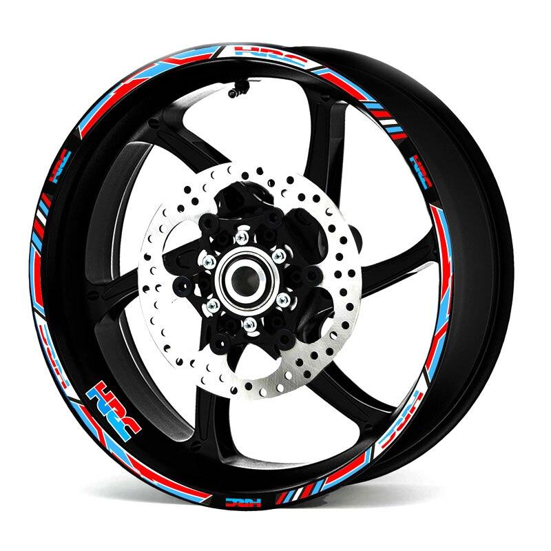 New Motorcycle Wheel Decals Reflective Stickers Rim Stripes 17inch For  Honda Racing HRC CBR250RR CBR400RR CBR600RR CBR1000RR