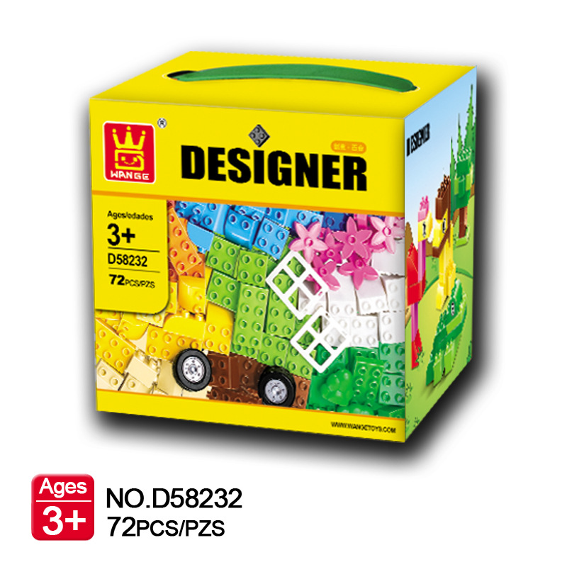 72Pcs Big Size Bricks Set City DIY Creative Bricks Toys Child Educational Wange Building Block Bricks Compatible With Lego Duplo