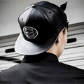 2016 Mens Solid Black PU Leather Color Hip Hop Hat Blank Baseball Caps Snapback Caps Embroidered Hat Letters  Bone For Men Women