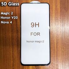 Wholesale Cold Carving 5D Glass Screen Protector For Huawei Honor V20 Nova4 Magic 2 Full Coverage Thin Tempered Protective