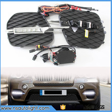 Car LED DRL For BMW X5 E70 2011-2012 High Power Xenon White Fog Cover Daytime Running Lights Kits