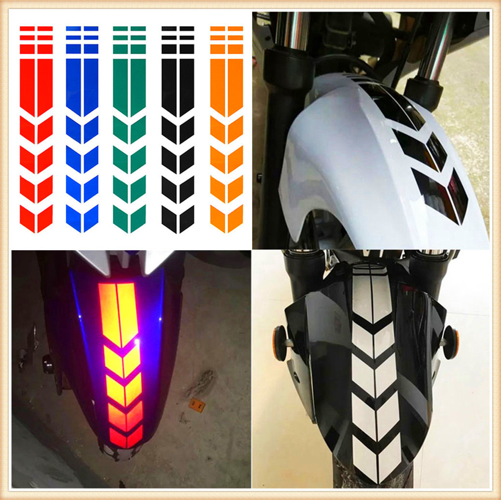 Motorcycle Sticker Wheel Fender Warning Arrow Decals For YAMAHA XV 950 RACER TDM 900 MT-125 MT125 MT-01 V-MAX WR250R X