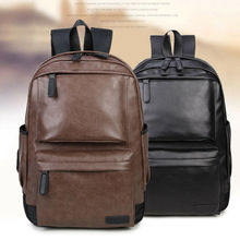 цена на Bag Leather Retro Vintage Men Women Shoulder Satchel School Backpack Laptop Bags