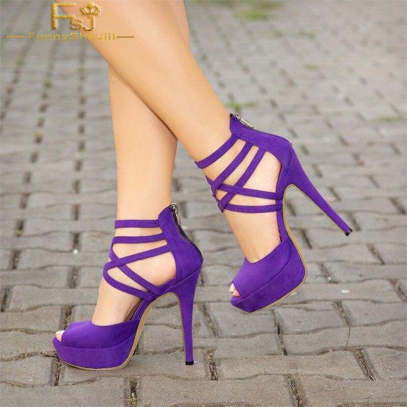 Purple Heels Size 11