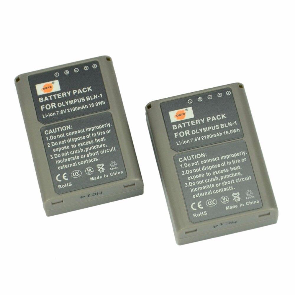 DSTE 2 PCS BLN-1 Batterie Rechargeable pour Olympus E-M5 OM-D E-M1 E-P5 E-M5 II Appareil Photo Numérique