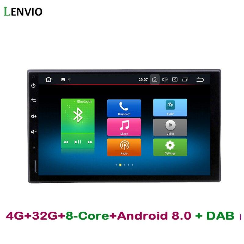 Lenvio RAM 4g ROM 32g Octa base Android 8.0 Autoradio GPS Navigation Pour Universel de voiture Nissan Hyundai honda voiture dvd lecteur DAB +