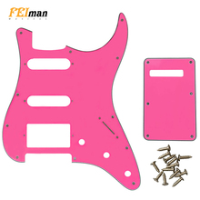 Pleroo Guitar parts 11 Hole Pickguard with back plate for Fender Stratocaster USA/Mexican Standard ST HSS with PAF Humbucker недорго, оригинальная цена