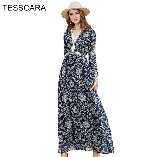 Для женщин летние длинные макси платье рубашка женский чешские принтом Vestidos ретро роковой Украина Костюмы Кружево выдалбливают Сарафан