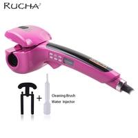 RUCHA Automatic Rotate Professional Hair Curler Iron Wet Dry Hair Salon Steam Curler Vapor Hair Roller