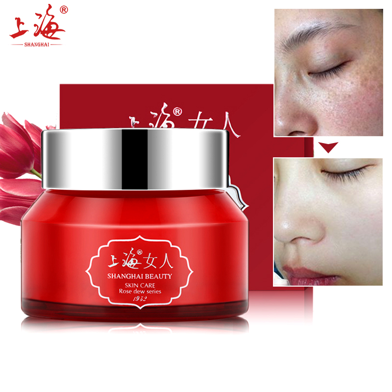 SHANGHAI BEAUTY Face Cream Rosa Dew Nourish Cream Moisturizing Hyaluronic Acid Anti Wrinkles Anti Aging Whitening Skin Care