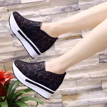 2019 Spring Summer Hole Shoes Woman Flat Platform Women Shoes Slip On Women\'s Loafers Thick Soled Female Shoe