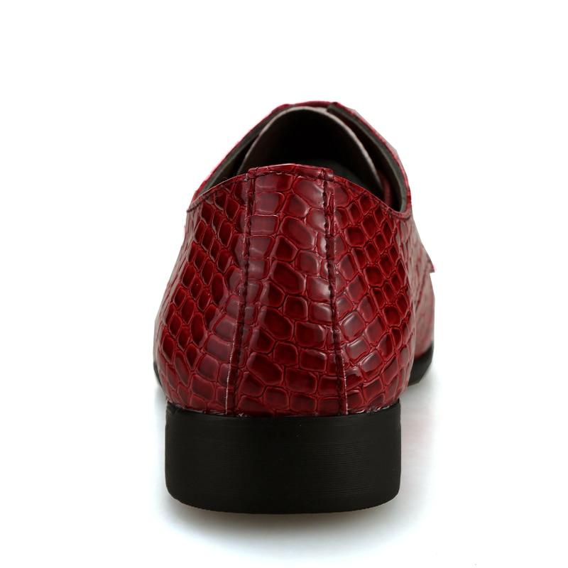 Mode Hombre Zapatos rouge Pour Microfibre Belle Nouvelle Noir bleu Chaussures En Cuir Marine Plat Oxford Robe Hommes T0Ppx
