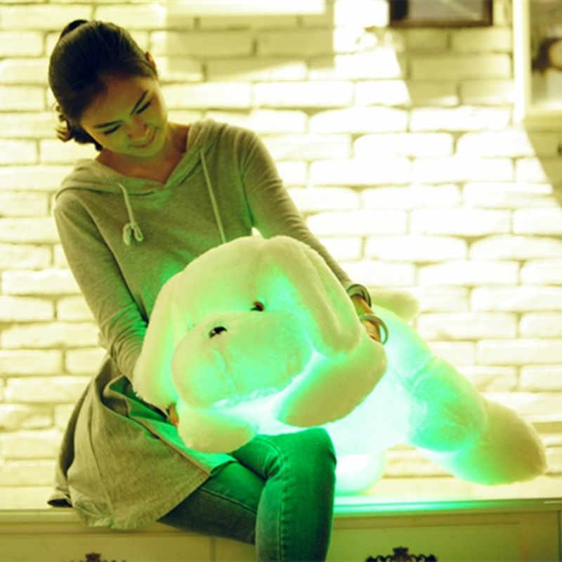 """Новый горячий Lapinou 50 см 80 см светодиодный свет собака чучело Плюшевые игрушки светящаяся Мягкая игрушка """"Щенок"""" светящаяся Подушка Детская игрушка Рождественский подарок"""