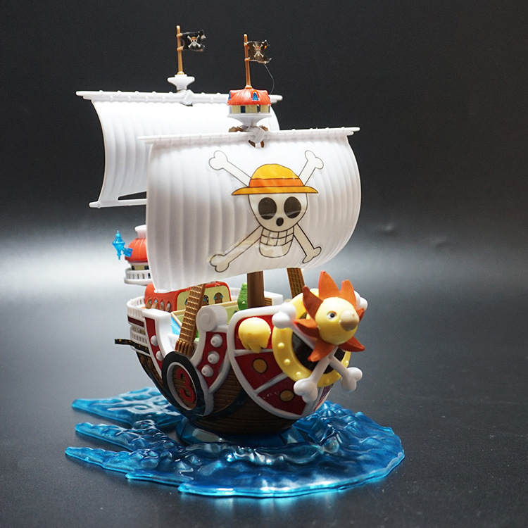 Anime One Piece Thousand Sunny Boat PVC Action Figure Luffy Figures Assembled Boxed Model Collectible Model Dolls for GiftAnime One Piece Thousand Sunny Boat PVC Action Figure Luffy Figures Assembled Boxed Model Collectible Model Dolls for Gift
