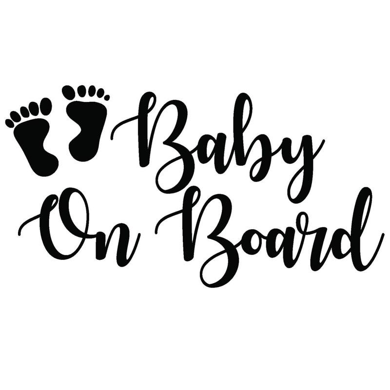 Yjzt 17 8cm9 5cm Baby On Board Vinyl Graphic Decal Sticker Vehicle