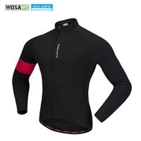 WOSAWE Cycling Jacket Men Winter Thermal Warm Wind Jacket Clothing Bike Quick Dry Coat MTB Jersey Fleece Ropa Ciclismo Men