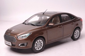 1:18 Diecast Model for Ford ESCORT 2015 Brown Sedan Alloy Toy Car Miniature Collection Gifts Explore ASPIRE