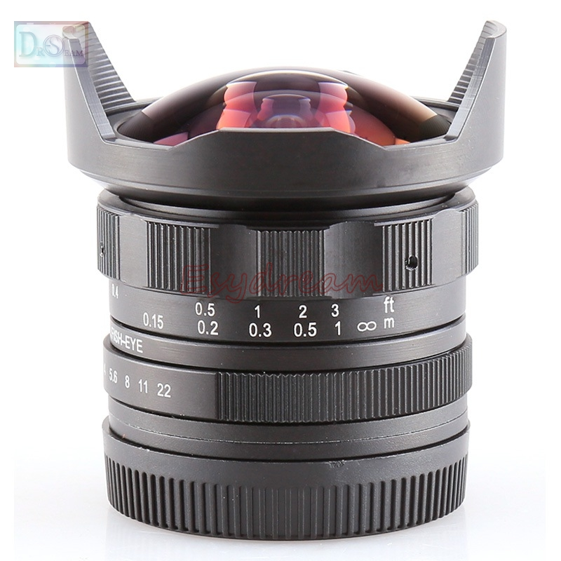 7.5mm 7.5 F2.8 Manual Fisheye Fish Eye Fish-eye Wide Angle Lens for Olympus Panasonic Sony E Mount NEX 3N 5T 7 A6500 A6300 A5100 стоимость