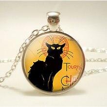 Модные аксессуары ожерелье с черной кошкой цепочка ювелирные
