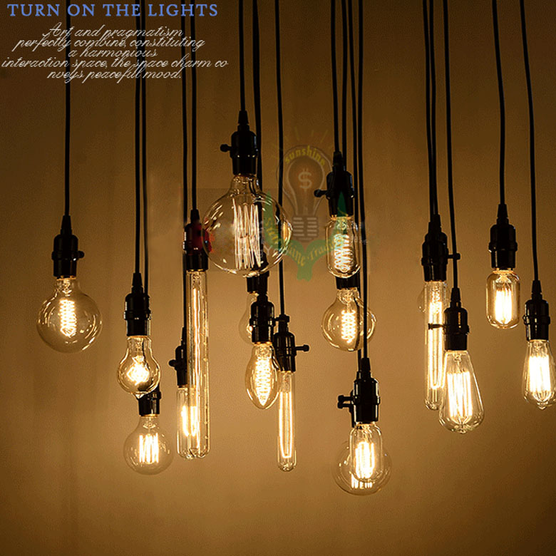 Hanging Edison Lights Wholesale 18set Edison Antique Bulb Pendant Lamps Diy