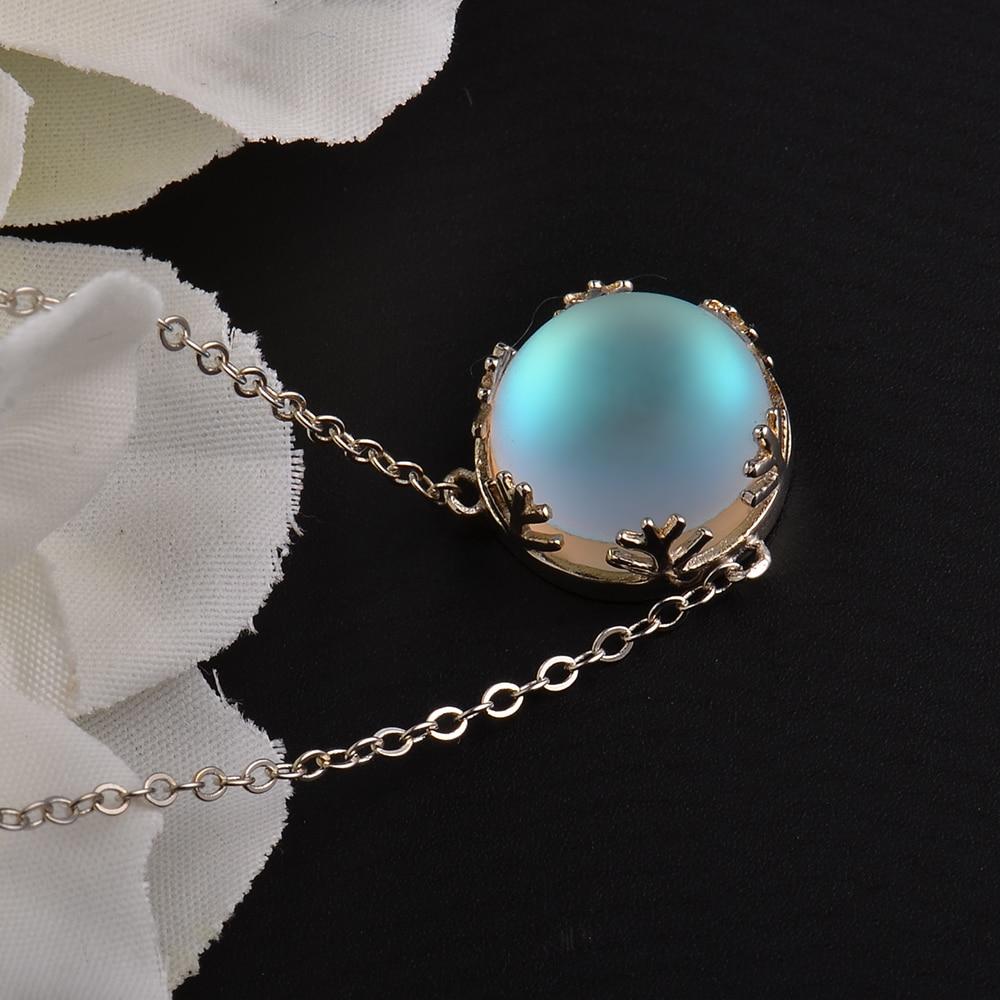MosDream Ladies Fashion Aurora Borealis Necklace S925 Sterling Silver Elegant Jewelry Birthdays Romatic Gift for Women
