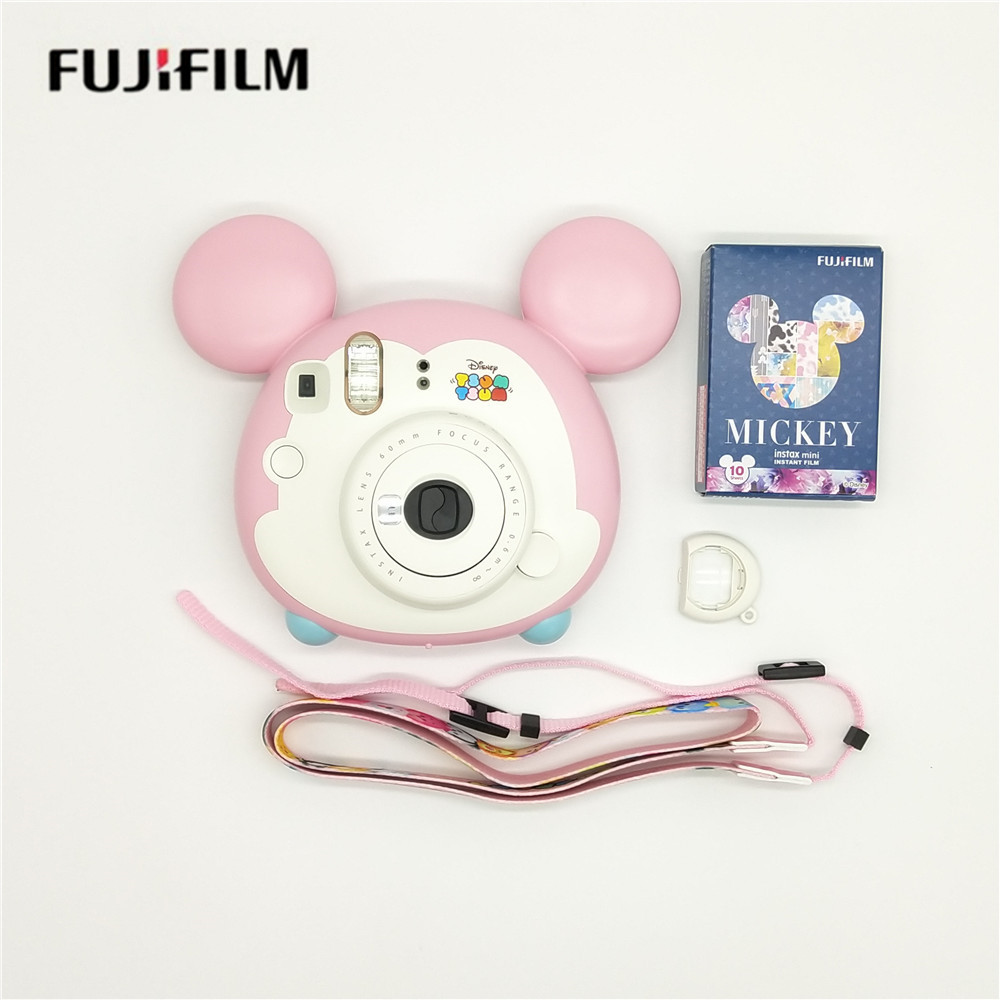 Fujifilm Instax Mini Instant Camera Tsum Tsum Gift Set with 10 Sheets Photo Papers,Present for Wedding Birthday Festival