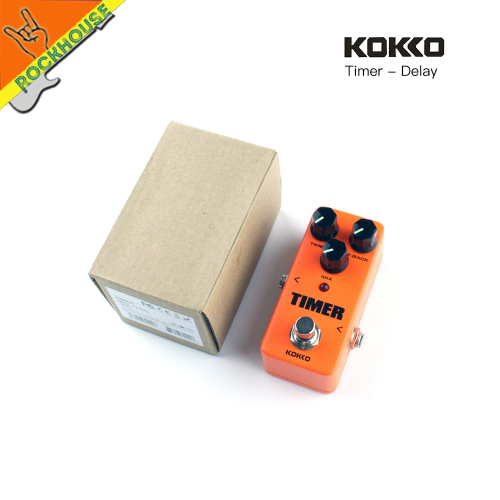 KOKKO Digital Delay Guitar Effect Pedal Echo Delay 25-1000ms delay time Warm and Nature Tone True Bypass Free Shipping joyo jf 304 new product time magic delay mini smart effect pedal analog sounding digital delay 600ms ture bypass free shipping