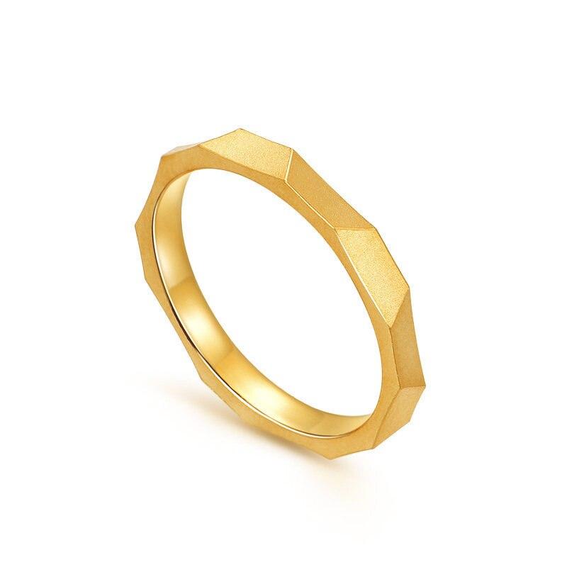HMSS 24 18K 純金リングリアル AU 999 純金指輪エレガントなシャイニービュ高級流行の古典的なジュエリーホット販売新 2019  グループ上の ジュエリー & アクセサリー からの 指輪 の中 3