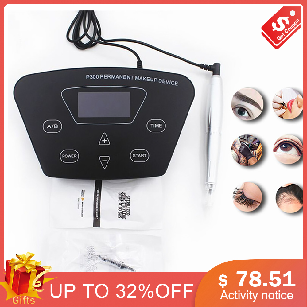 Biomaser P300 Updated Permanent Makeup Tattoo Machine kits Professional Digital Tattoo Machine Eyebrow Lip Pen Machine SetsBiomaser P300 Updated Permanent Makeup Tattoo Machine kits Professional Digital Tattoo Machine Eyebrow Lip Pen Machine Sets