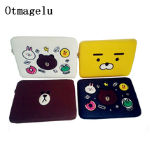 Laptop Bag Tablet Case Cute Brown Bear Cartoon Felt Bag For Apple Macbook Air Pro 11 13 15 15.6 inch Computer Sleeve Pocket bags