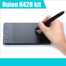 HUION H420 USB Art Design Digital LCD Tablet Drawing Pad Graphics Tablet Monitor OSU USB Smart Quran Digital Pen For PC Computer