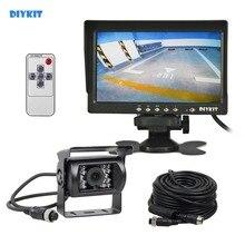 купить DIYKIT AHD 7inch LCD Backup Monitor Rear View Monitor Waterproof Night Vision 960P AHD Rear View Camera for Bus Houseboat Truck дешево