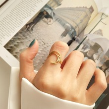 цена на Amaiyllis 925 Sterling Silver Gold Simple Knuckle Rings Women Single Crescent Moon Delicate DIY Jewelry Silver Ring