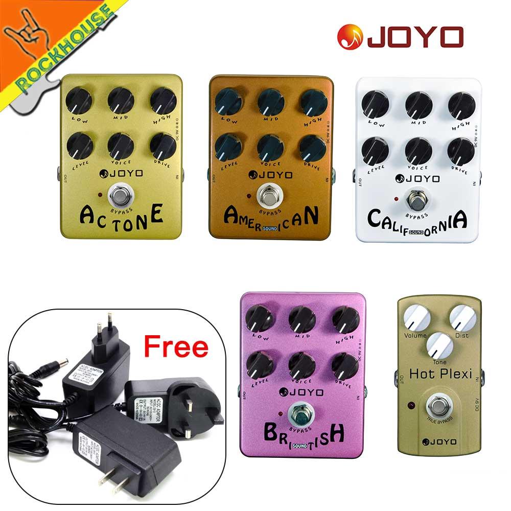 joyo guitar amp simulator effects pedal distortion pedal vox fander marshall mesa boogie amplifier true bypass [ 1000 x 1000 Pixel ]