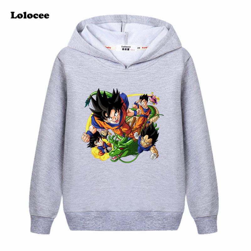 Boys Girls Kids Dragon Ball Cartoon Sweatshirt Hoodie Long Sleeve Shirt Clothing