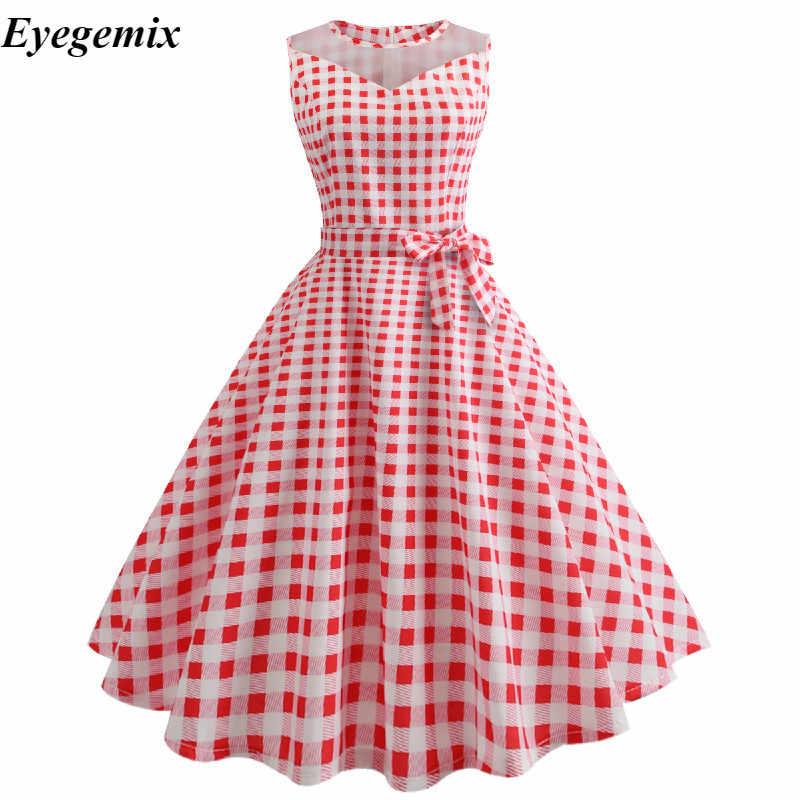 f8aad9641ff ... White Polka Dot Summer Dress Women Lace Patchwork Retro Swing Sundress  50s 60s Elegant Vintage Rockabilly ...