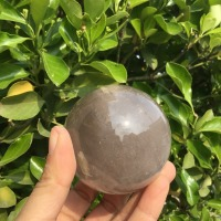 Natural quartz Crystal Magic Ball Smoky Quartz Crystal Healing Sphere