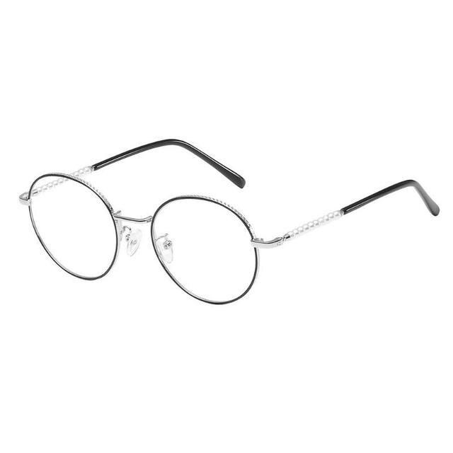 b1d8f1551b3 Unisex Glasses Round Optical Women Men Casual Glasses Frame Metal Anti-Blue  Light Plain Glass Fashion Spectacles